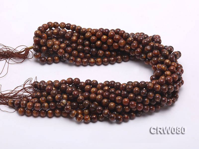 Wholesale 8.5mm Round Golden Coral Beads Loose String big Image 3