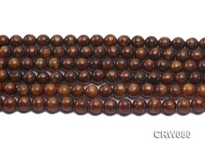 Wholesale 8.5mm Round Golden Coral Beads Loose String CRW080 Image 2
