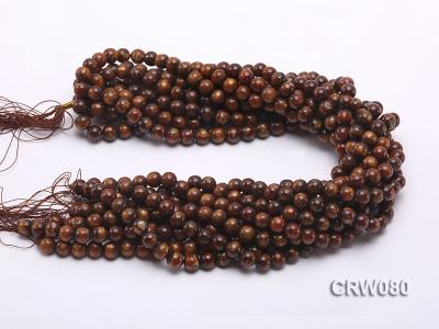 Wholesale 8.5mm Round Golden Coral Beads Loose String CRW080 Image 3
