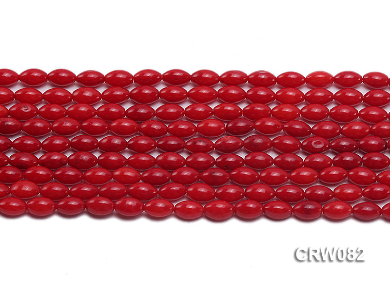 Wholesale 4.5x8 mm Rice-shaped Red Coral Beads Loose String big Image 3