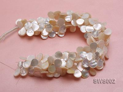 Wholesale 13x15mm White Drip-shaped Seashell String SWS002 Image 3