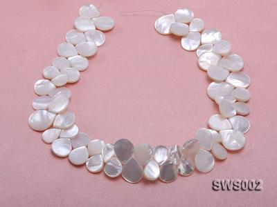 Wholesale 13x15mm White Drip-shaped Seashell String SWS002 Image 4