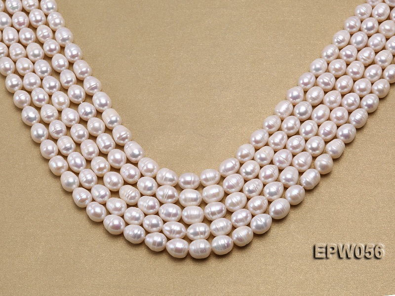 Wholesale 8.5-9.5mm Classic White Rice-shaped Freshwater Pearl String big Image 1