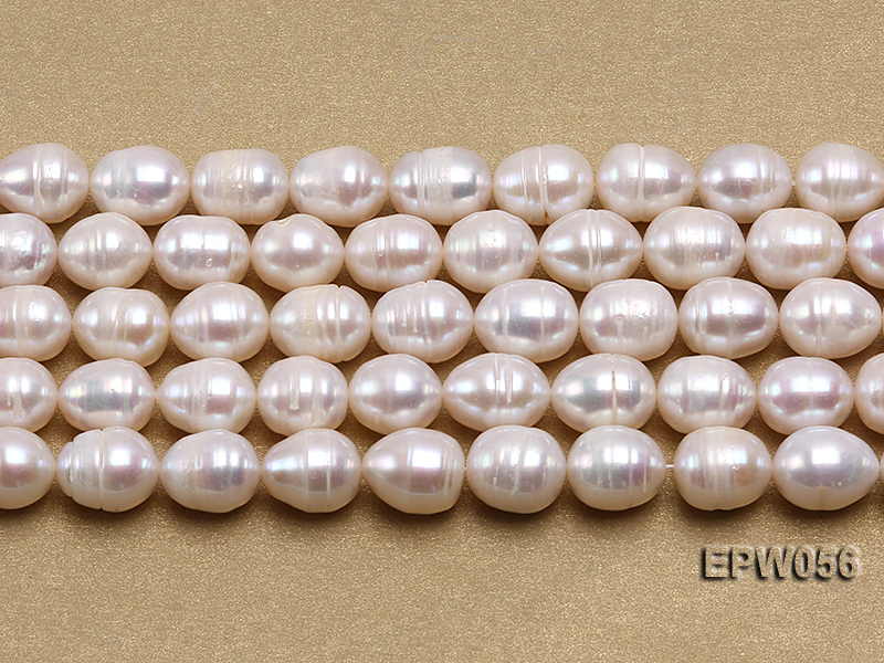 Wholesale 8.5-9.5mm Classic White Rice-shaped Freshwater Pearl String big Image 2