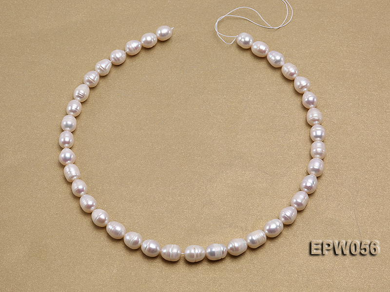 Wholesale 8.5-9.5mm Classic White Rice-shaped Freshwater Pearl String big Image 3