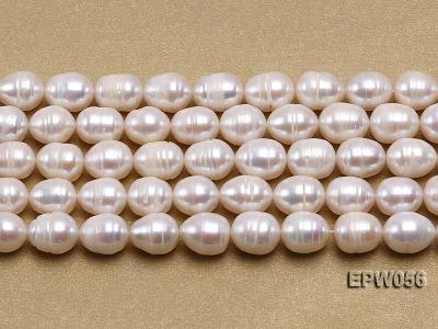 Wholesale 8.5-9.5mm Classic White Rice-shaped Freshwater Pearl String EPW056 Image 2