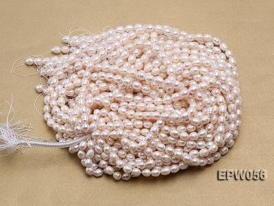 Wholesale 8.5-9.5mm Classic White Rice-shaped Freshwater Pearl String EPW056 Image 4