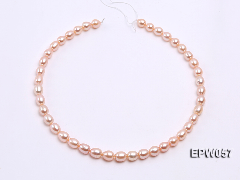 Wholesale 8x10.5mm Pink & Lavender Rice-shaped Freshwater Pearl String big Image 3