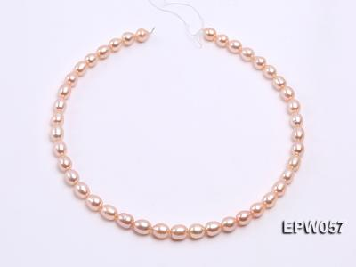 Wholesale 8x10.5mm Pink & Lavender Rice-shaped Freshwater Pearl String EPW057 Image 3