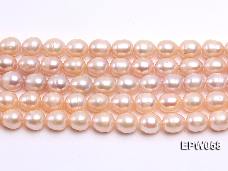 Wholesale 10x11mm White Rice-shaped Freshwater Pearl String big Image 1
