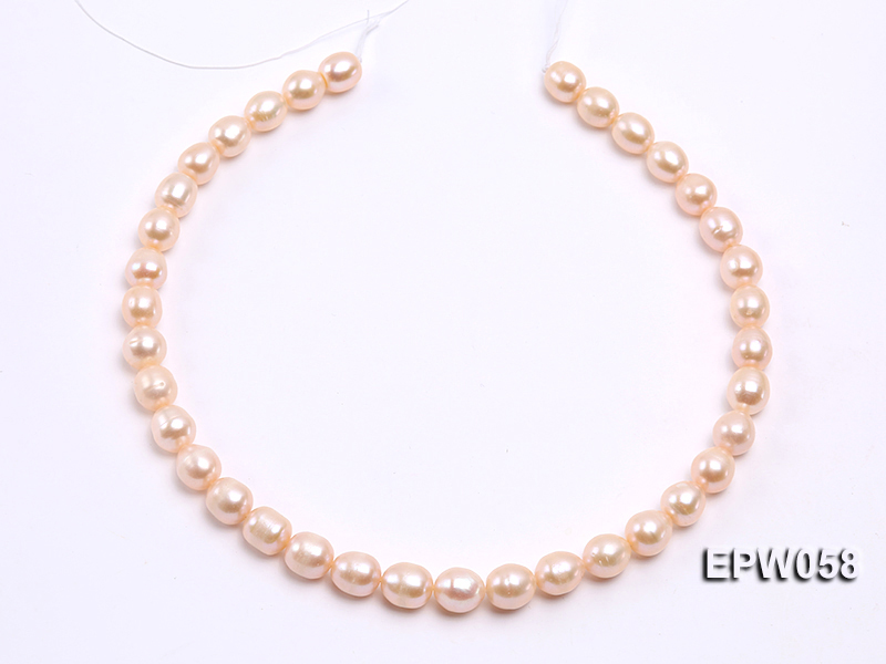 Wholesale 10x11mm White Rice-shaped Freshwater Pearl String big Image 3