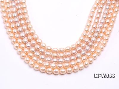 Wholesale 10x11mm White Rice-shaped Freshwater Pearl String EPW058 Image 2