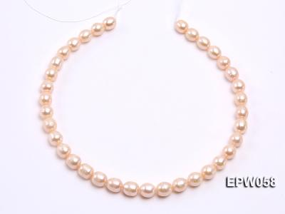 Wholesale 10x11mm White Rice-shaped Freshwater Pearl String EPW058 Image 3