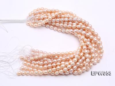 Wholesale 10x11mm White Rice-shaped Freshwater Pearl String EPW058 Image 4