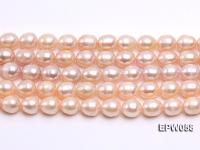 Wholesale 10x11mm White Rice-shaped Freshwater Pearl String EPW058