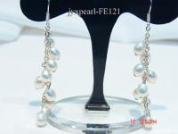 5-6mm White Rice-shaped Cultured Freshwater Pearl Earrings FE121