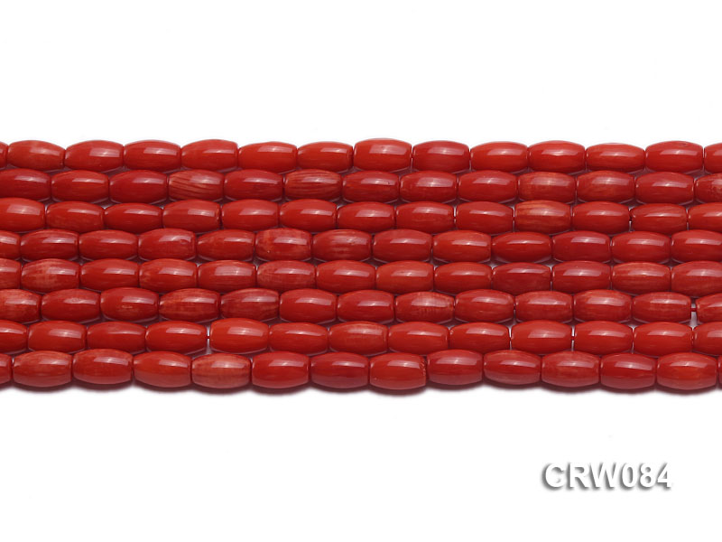 Wholesale 5x9mm Rice-shaped Red Coral Beads Loose String big Image 2