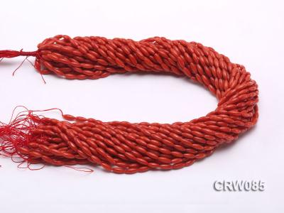Wholesale 4x10mm Rice-shaped Red Coral Beads Loose String CRW085 Image 3