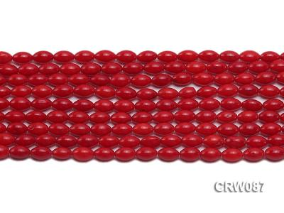 Wholesale 5x8mm Rice-shaped Red Coral Beads Loose String CRW087 Image 2