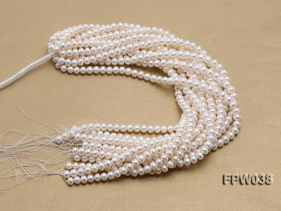 Wholesale 7x9mm Classic White Flat Cultured Freshwater Pearl String FPW038 Image 4