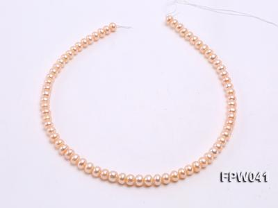 Wholesale 6x8mm Pink/Lavender Flat Cultured Freshwater Pearl String FPW041 Image 3