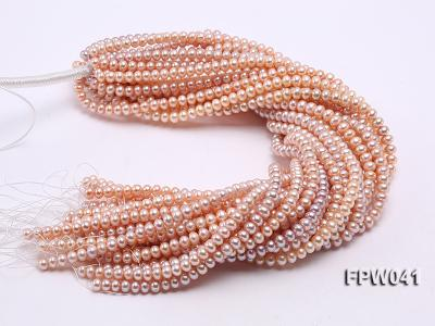 Wholesale 6x8mm Pink/Lavender Flat Cultured Freshwater Pearl String FPW041 Image 4
