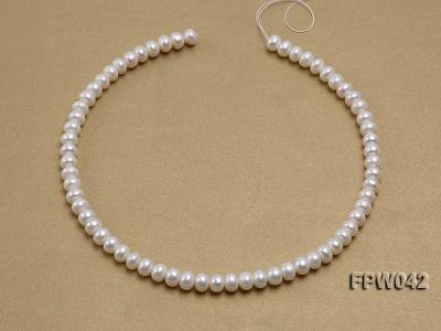 Wholesale 7x9mm White Flat Cultured Freshwater Pearl String FPW042 Image 3