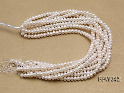 Wholesale 7x9mm White Flat Cultured Freshwater Pearl String FPW042 Image 4