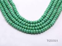 Wholesale 6x9.5mm Wheel-shaped Green Turquoise Beads String TQW061