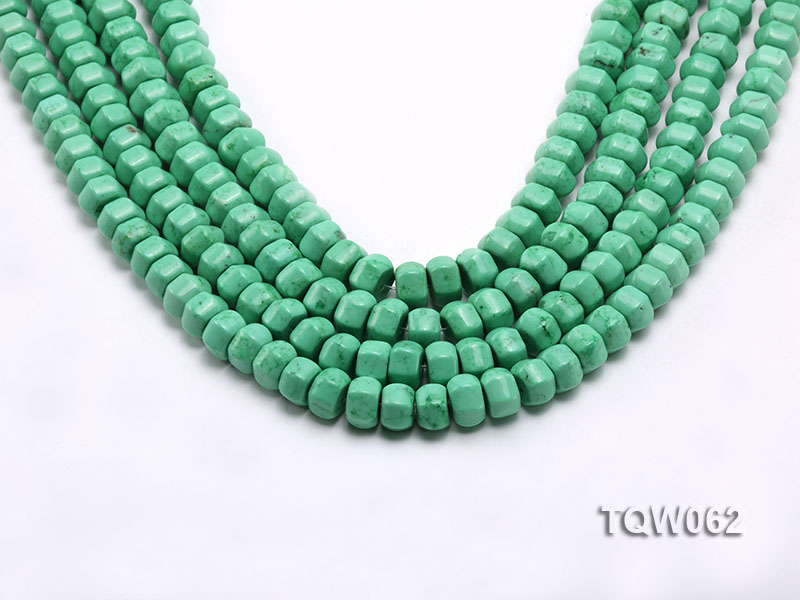 Wholesale 6.5x9.5mm Wheel-shaped Green Turquoise Beads String big Image 1