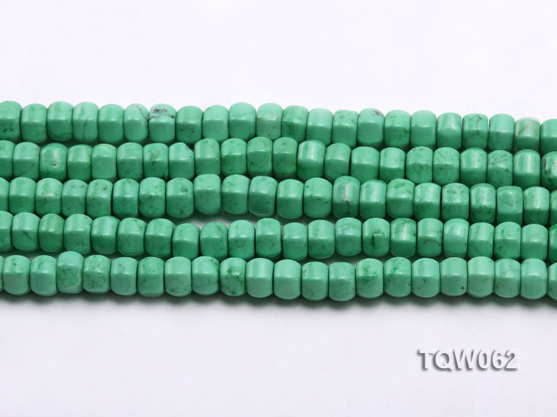 Wholesale 6.5x9.5mm Wheel-shaped Green Turquoise Beads String big Image 2