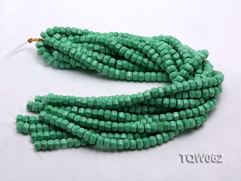 Wholesale 6.5x9.5mm Wheel-shaped Green Turquoise Beads String big Image 3