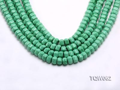 Wholesale 6.5x9.5mm Wheel-shaped Green Turquoise Beads String TQW062 Image 1