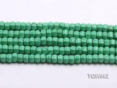 Wholesale 6.5x9.5mm Wheel-shaped Green Turquoise Beads String TQW062 Image 2