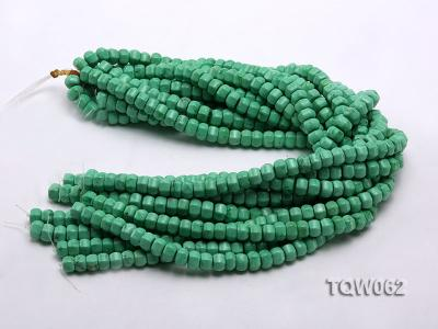Wholesale 6.5x9.5mm Wheel-shaped Green Turquoise Beads String TQW062 Image 3