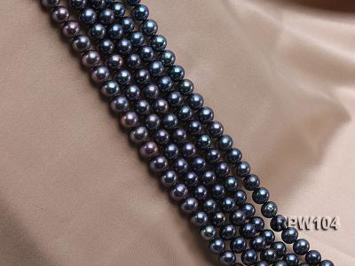 Wholesale High-quality AA-grade 10-11mm Black Round Freshwater Pearl String  RPW104 Image 3