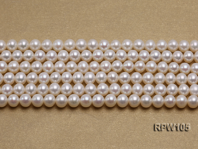 Wholesale High-quality AAAAA 6mm Classic White Round Freshwater Pearl String big Image 2