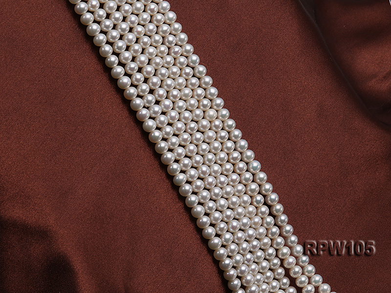 Wholesale High-quality AAAAA 6mm Classic White Round Freshwater Pearl String big Image 3