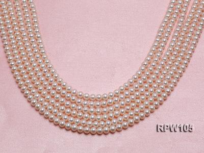 Wholesale High-quality AAAAA 6mm Classic White Round Freshwater Pearl String RPW105 Image 1