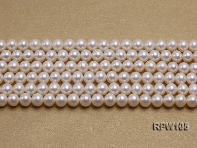 Wholesale High-quality AAAAA 6mm Classic White Round Freshwater Pearl String RPW105 Image 2