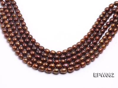Wholesale 9x11mm Brown Rice-shaped Freshwater Pearl String EPW062 Image 2
