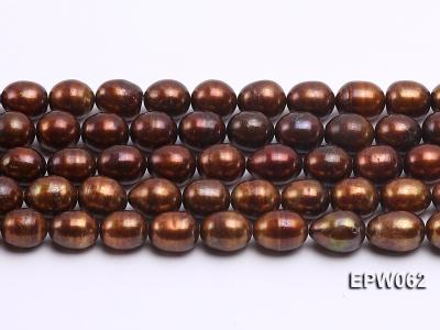 Wholesale 9x11mm Brown Rice-shaped Freshwater Pearl String EPW062 Image 1