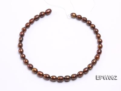 Wholesale 9x11mm Brown Rice-shaped Freshwater Pearl String EPW062 Image 3