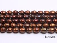 Wholesale 9x11mm Brown Rice-shaped Freshwater Pearl String EPW062