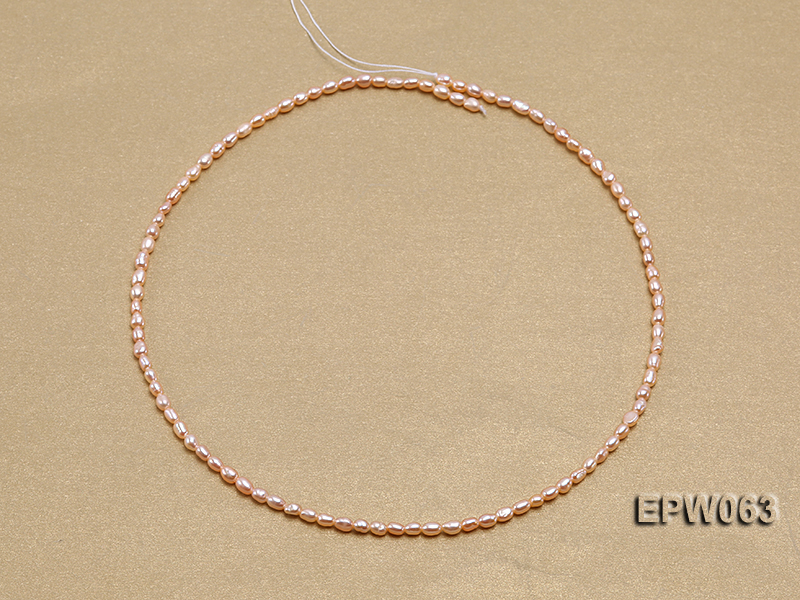 Wholesale 3x4mm  Rice-shaped Freshwater Pearl String big Image 3