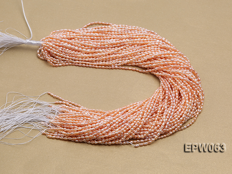 Wholesale 3x4mm  Rice-shaped Freshwater Pearl String big Image 4