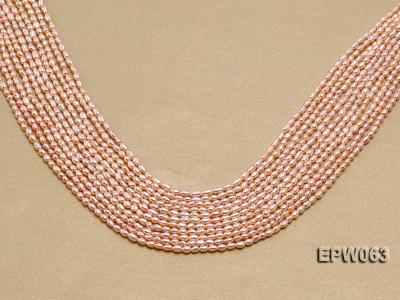 Wholesale 3x4mm  Rice-shaped Freshwater Pearl String EPW063 Image 1
