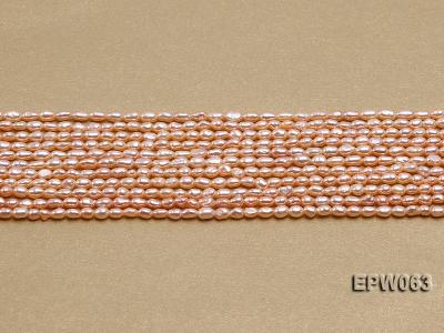 Wholesale 3x4mm  Rice-shaped Freshwater Pearl String EPW063 Image 2
