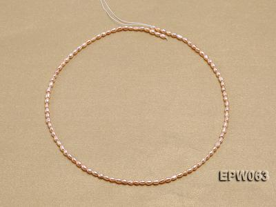 Wholesale 3x4mm  Rice-shaped Freshwater Pearl String EPW063 Image 3