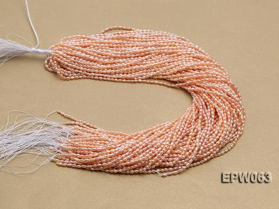 Wholesale 3x4mm  Rice-shaped Freshwater Pearl String EPW063 Image 4